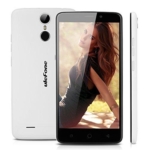 Ulefone Vienna 4G LTE Smartphone Touch ID Dual SIM Octa Core 5,5 Zoll Android 5.1 IPS 1920X1080 Bildachirm 3GB RAM + 32GB ROM 13MP 5MP Dual Kamera Handy ohne Vertrag Fingerabdruck OTG GPS Weiß