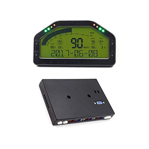 DEJUN DO908 12V Multifunctional Car Race Dash Dashboard LCD Display Rally Gauge Meter Sensor Kit Wire Harness Connection