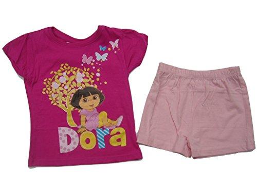 Dora the Explorer Shorty - Pantalones cortos Rosa/rosa. 110 cm/116 cm Ca. 6Años