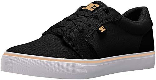DC Men's Anvil TX Skate Shoe, Black/Tan, 6 D M US