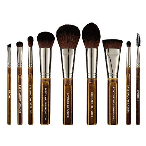 Haptian 9pcs pinceaux de Maquillage pour la Fondation Cache-cernes Poudre Fard à Joues eyelow pour démarreur