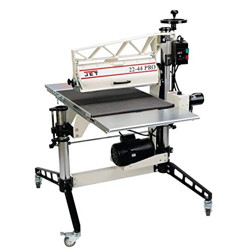 JET 22-44 PRO 22-Inch 3-Horsepower 1PH DRO Drum Sander with Table and Caster