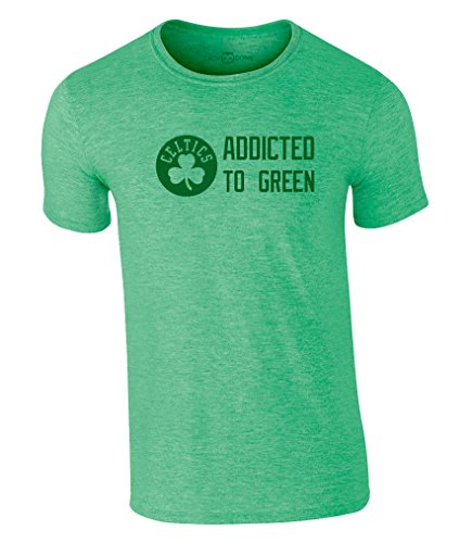 Celtics T-Shirt Addicted to Green Boston Jersey Basketball Trikot NBA (L)