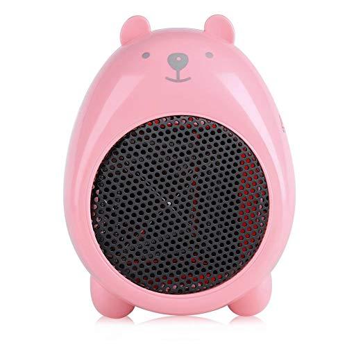 termoventilatore rosa Jadeshay Termoventilatore da Tavolo Elettrico Portatile da Ufficio Invernale da 220V (Colore : Rosa)