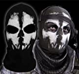 Call of Duty Geister Schädel Maske Balaclava Hood Ghosts Skull Mask MODERN WARFARE COD Sturmmaske...