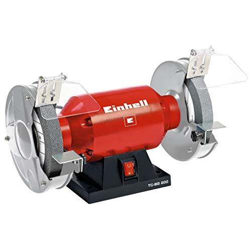 Einhell TH-BG 200 - Amoladora de Mesa, disco 200 mm, 400 W, 230 V, color rojo y negro