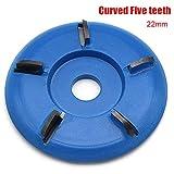 lzndeal 90mm Arc/Flat Plane Zähne Holz Turbo Carving Disc Fräser Werkzeuge für 16mm / 22mm Winkelschleifer