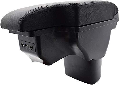 , para Nissan Juke ESQ 2011-2019 Reposabrazos de Cuero Almacenamiento de Coche Caja de Interfaz USB Reposabrazos Modificación 2017 2018
