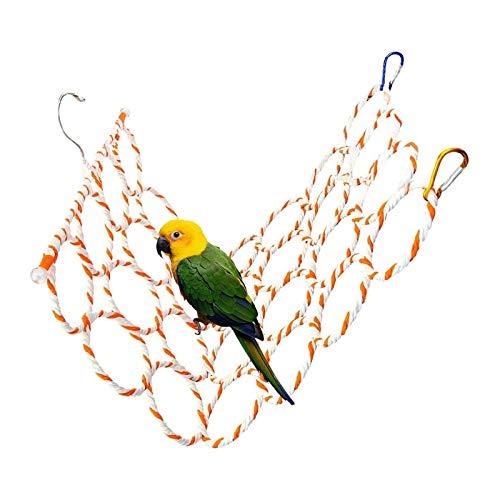 X-zoo Sitzstangen für Vögel 28 Ringe, Papageien Vogelständer Spielplatz Gefaltet Vogelspielzeug Zubehör für Wellensittich Nymphensittich