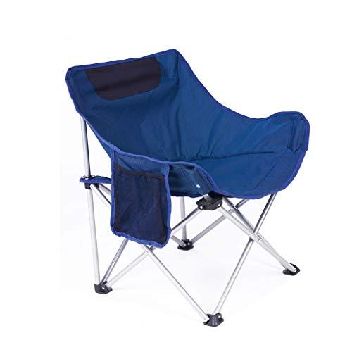Chaise de pêche en plein air en acier inoxydable ultra léger portable ultra pliable chaise de pique-nique en plein air plage en plein air siège de croquis (Color : Blue)