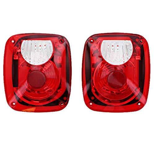 Rampage Products 5307 Kit de conversión de luz trasera con lentes Euro para Jeep CJ, Wrangler YJ, LJ y…