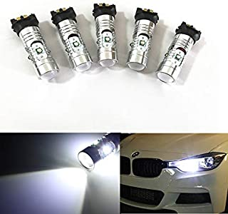 GFJMC Xenon White 25W Canbus PW24W PWY24W LED Bulbs for Audi BMW VW Turn Signal Lights or Daytime Running Lamps