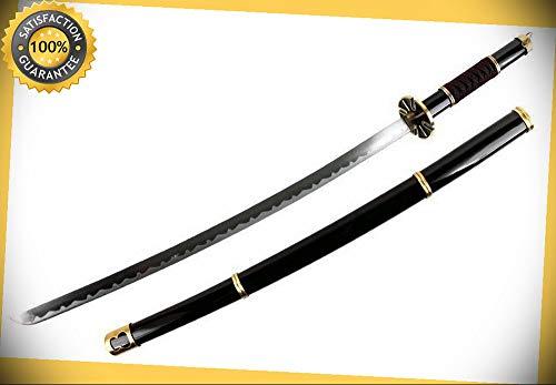 LARGE 40'' BLACK ONE PIECE RORONOA ZORO YUBASHIRI SWORD ANIME COSPLAY...