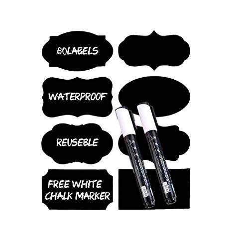 Pongaps Krijtbord Etiketten Stickers met Pen Verwijderbare Herbruikbare Etiketten Schilderen & Behangen