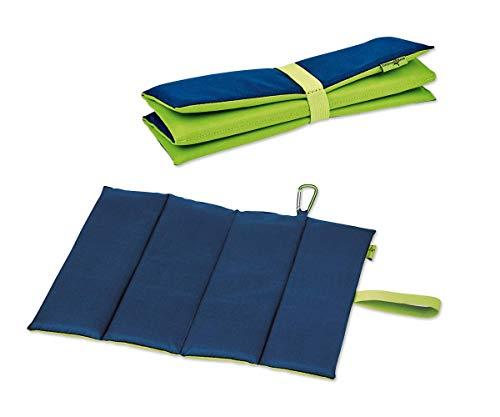 moses. Sitzmatte Expedition Natur - Blau Grün | Faltbares Sitzkissen für Kinder | Geeignet für Outdoor, Camping, Wandern oder Spielplatz-Besuche