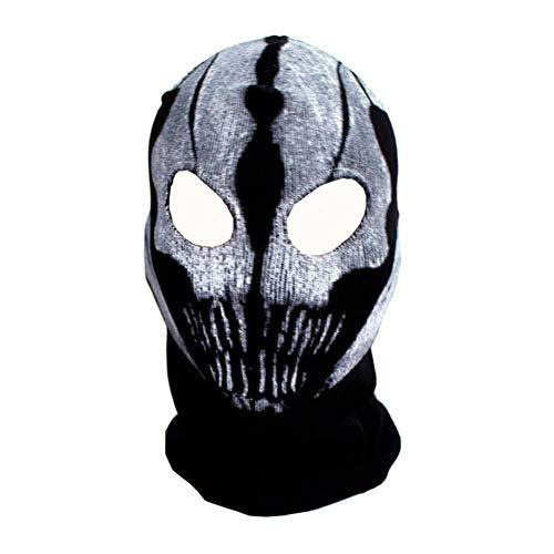 Yalatan 3D Skeleton Maske Scary Skull Sturmhaube Ghost Skull Cosplay Kostüm Halloween Party Vollgesichtsmaske