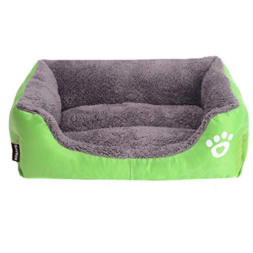 Rotagrod Cama grande para mascotas (S-3XL), 8 colores, cálida y acogedora, casita para perros, suave nido para perros, impermeable, perrera, color verde, XL, 80 x 65 x 17 cm, China