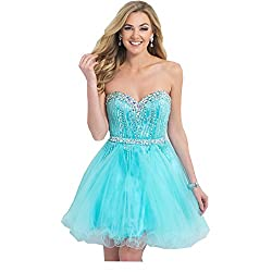 Sweetheart Strapless With Rhinestones Dress Above Knee