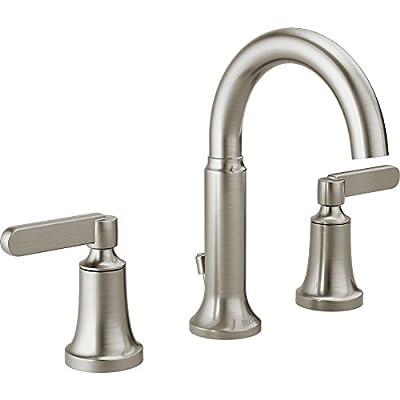 Delta Alux SpotShield Brushed Nickel 2-handle Widespread Bathroom Faucet