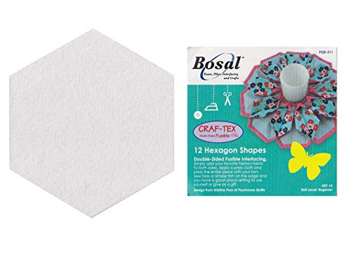 Bosal In-R-Form Hexagon Shaped Double Sided Fusible Interfacing 12/pkg