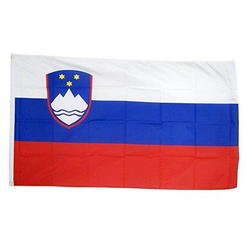 Naicasy 90 * 150CM Sloveense vlag 1 Pack