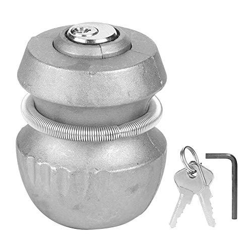 Hitchlock universal con 2 llaves, seguridad de bloqueo de bola de remolque de acoplamiento de enganche de remolque de aleación