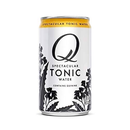Q Tonic Water, Premium Tonic Water: Real Ingredients & Less Sweet, 7.5 Fl oz, 24 Cans (Only 45 Calories per Can)