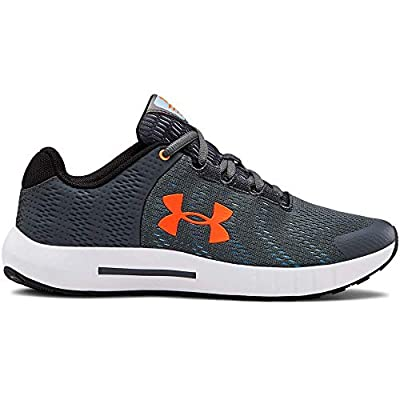 Under Armour Unisex-Youth Pre School Pursuit BP Sneaker, Pitch Gray (100)/White, 3.5