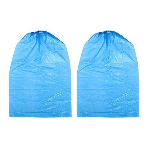 Healifty usa e getta copriscarpe igienico stivali usa e getta 10pezzi di plastica impermeabile antiscivolo per bicicletta (blu)