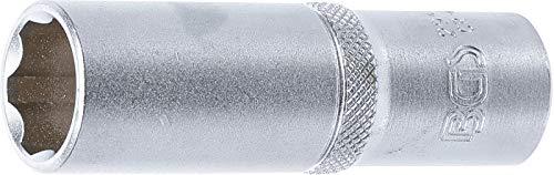 "BGS 2947 | Steckschlüssel-Einsatz Super Lock, tief | 12,5 mm (1/2\"") | SW 17 mm | lang | Wellenprofil | CV-Stahl"