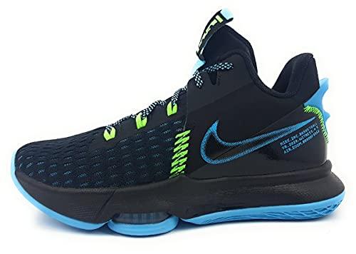 Nike Lebron Witness 5, Scarpa da Basket Unisex-Adulto, Black Lagoon Pulse Green Strike, 37.5 EU