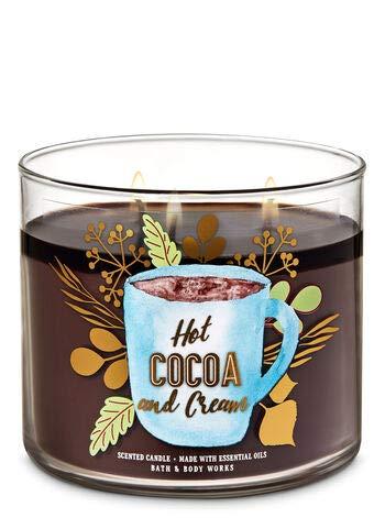 White Barn Bath & Body Works 3 Wick Candle Hot Cocoa and Cream