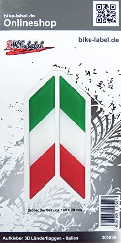 BIKE-label 300062N 3D Aufkleber Flaggen Italy Italien Stiefel 100 x 85mm