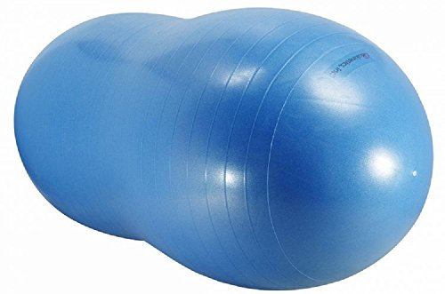 """Isokinetics Inc. Brand Peanut Ball - Anti-Burst - 70cm (27.5"""") - Blue - For Exercise and Physical Therapy"""