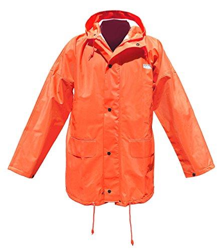 Ocean Rainwear Damen Herren Regenjacke Modell Budget, Farbe:orange, Größe:L