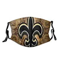 KASMILN New Orleans Saints Tie Dye Design Fabric Half Face Mask Mouth Masks with Earmuffs Anti Dust Anti Haze Windproof Mask