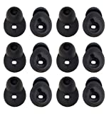 ALXCD Ear Tip for Gear Circle SM-R130, 6 Pair Medium Size Durable Silicone Replacement Ear Tip Earpads, Fit for Samsung Gear Circle Bluetooth Earphone SM-R130 [Black/Medium](6 Pair)