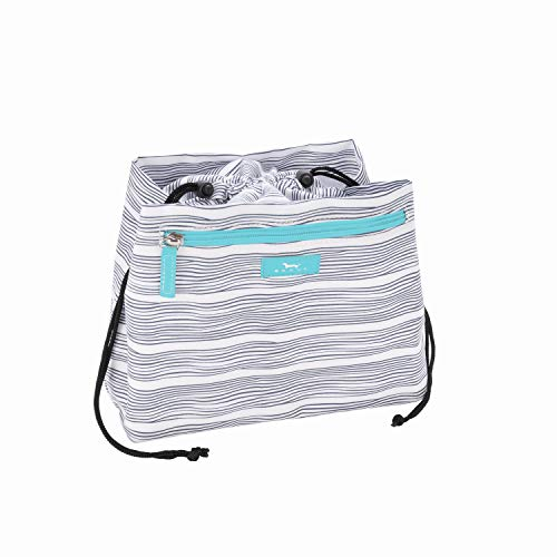 SCOUT Glam Squad Cinch-Top Makeup Bag, Water Resistant Makeup Pouch and Toiletry Bag for Women with Drawstring Closure and Zipper Compartments (Multiple Patterns Available)