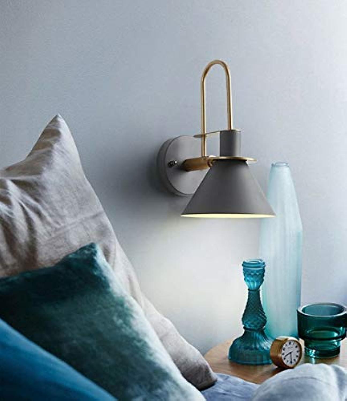AWOPH Nordic modernen minimalistischen Wohnzimmer Gang Schlafzimmer Horn Horn Schmiedeeisen Schaltflche Umwelt LED Wandleuchte, grau