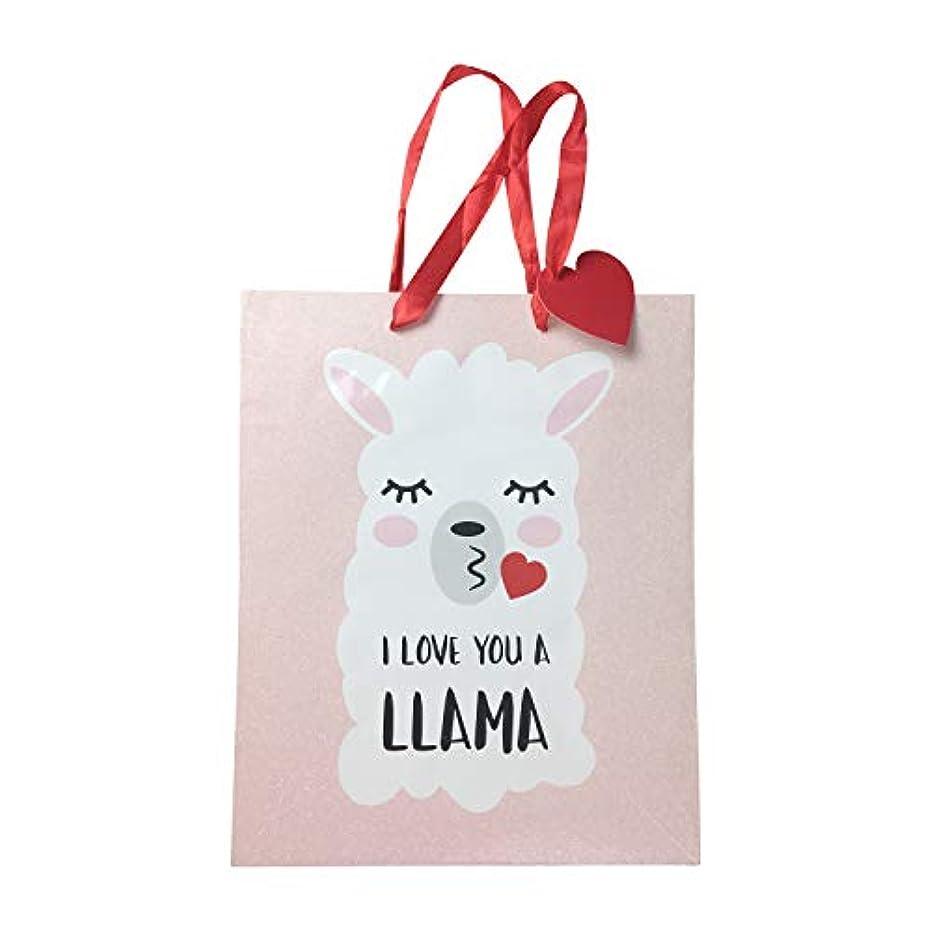 Llama Valentines Day Medium Gift Bag