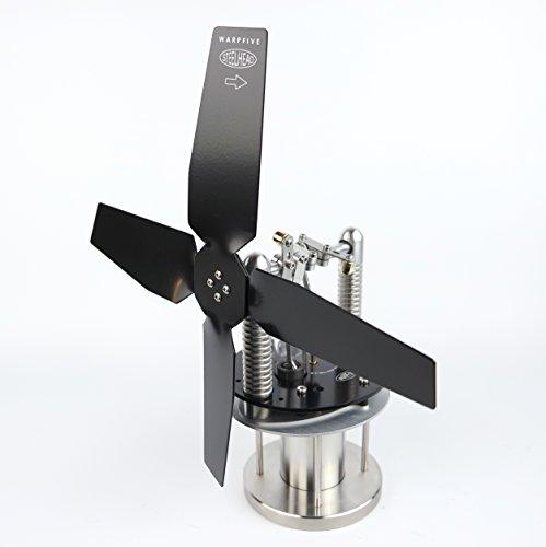 Steelhead Ofenventilator ohne Strom für Holzofen Kamin, Stirling Motorlüfter