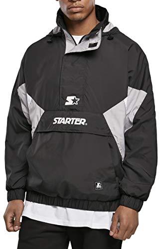 STARTER BLACK LABEL Herren Starter Windbreaker Jacke, Black/Silvergrey/White, L