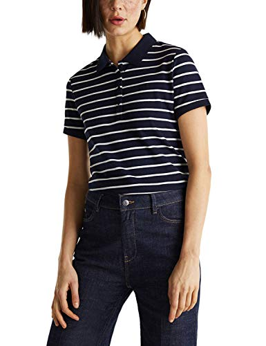ESPRIT Damen 030EE1K325 T-Shirt, 400/NAVY, S