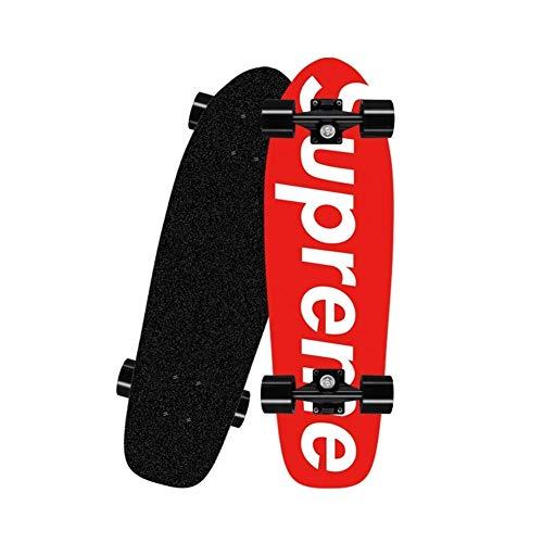 LXJ Kinder Skateboard, Komplettes Skateboard, Maple Deck, Ahorn Kleine Fische Bord Breite Rundbürste Straße Jugend Anfänger Professionelle Skateboard (Color : E)