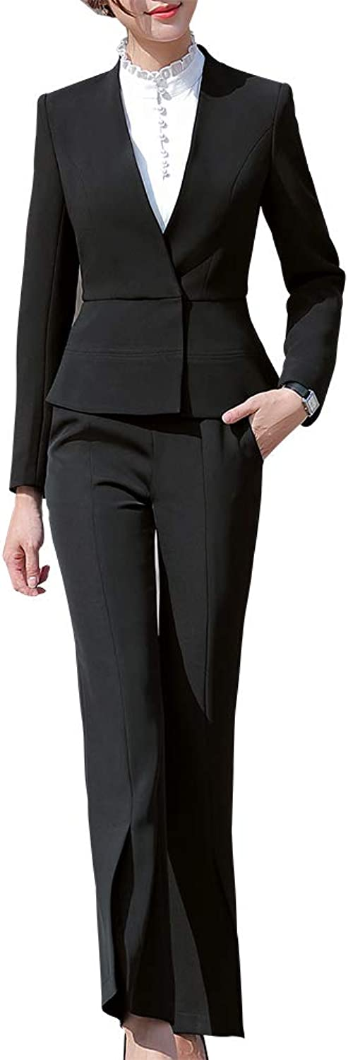SUSIELADY Women's Two Pieces Office Business Suits Office Lady Business Suits for Women Slim Blazer & Pant Skirt