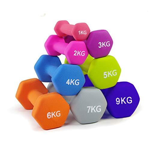 lINOC Mancuernas Pesas para Gimnasio en Casa Ejercicio Fitness Entrenamiento [1 pc],2kg