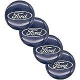 Auto 4 Stück, Radnabenkappen, für Ford 65mm Alufelgen Nabendeckel Abzeichen Radnabenabdeckungen Autozubehör