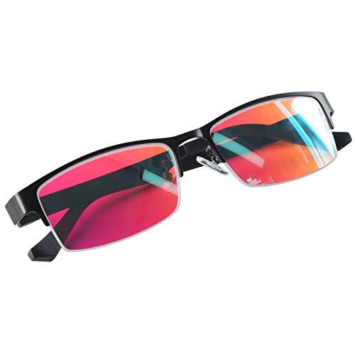 Farbenblinde Brillen, Verbesserung der Farbauflösungsfähigkeit Farbenblindheit Rahmen, stilvoll und leicht mit Aufbewahrungsbox Korrekturbrillen für Männer und Frauen