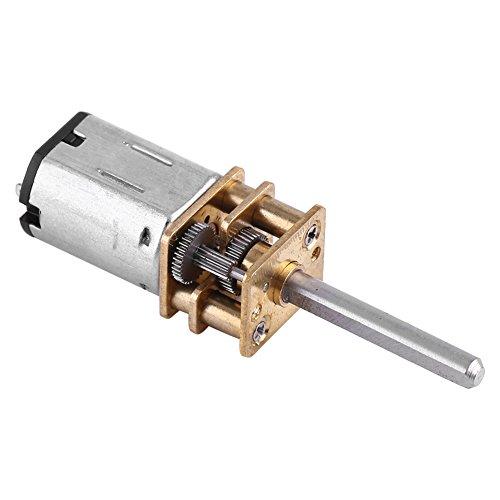 Motor eléctrico de la reducción del gusano de Torque del alto esfuerzo de torsión reversible de la caja de engranajes de DC 12V con el eje de salida largo 100RPM ~ 2000RPM(100RPM)