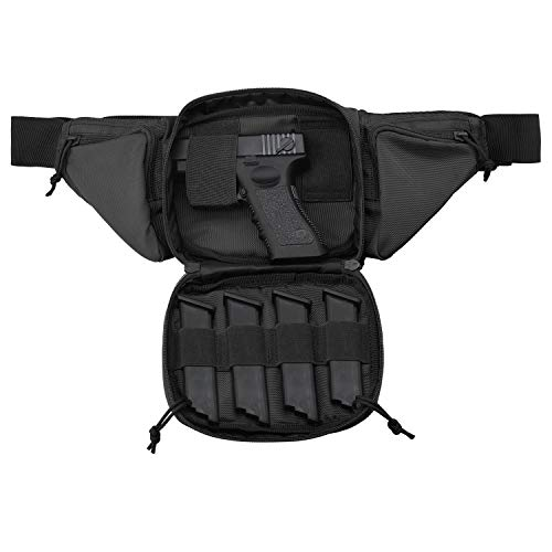 Lowest Price! FRTKK Concealed Carry Pistol Pouch Ultimate Fanny Pack Holster Fits 1911, Glock, H&K, Ruger, S&W M&P Shield, Taurus, Sig Sauer, Springfield, Beretta, Kimber, Walther, and More